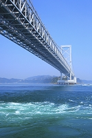 徳島県 大鳴門橋と鳴門海峡の渦潮