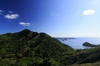 東京都 小笠原 父島 中山峠より高山とブタ海岸(海峡(南島瀬...
