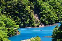 静岡県 寸又峡 夢の吊り橋