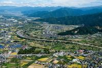 川中島古戦場周辺と川中島古戦場 史跡公園 千曲川