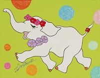 イラスト 象 花飾り