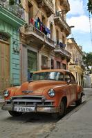 キューバ アメリカンクラシックカー