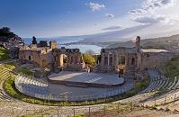 イタリア シチリア タオルミーナ ギリシャ劇場