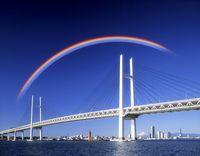 横浜ベイブリッジと虹(イメージ)