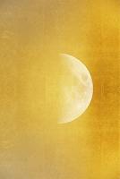 金屏風に月