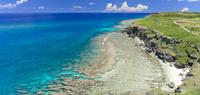 沖縄県 与那国島 六畳ビーチ ドローン