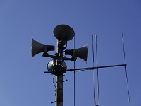 防災無線のスピーカー