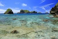 東京都 南崎の海と島々