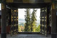 妙義神社の唐門と眺望