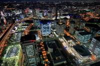 神奈川県 ランドマークタワー展望室から高島方面の夜景