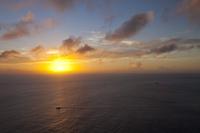 東京都 三日月山展望台から見る夕日