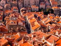 クロアチア ミニチュア加工した街並み