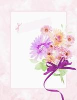 イラスト 花束の枠