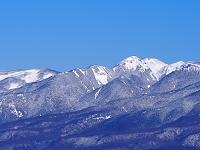 長野県 入笠山より北八ヶ岳と天狗岳を望む