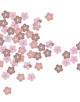 梅花柄のパターン