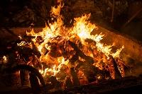 正月 焚き火 板橋区