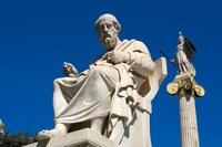 ギリシャ アテネ プラトン大理石像