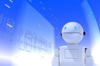 ロボットと数字 CG