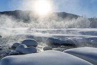 長野県 松川の霧氷