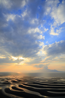 熊本県 御輿来海岸の夕暮れ