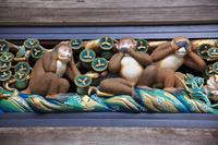 栃木県 日光東照宮 修復中の三猿(17年3月)