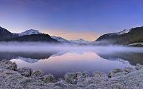 スイス グラウビュンデン州 シルヴァプラーナ湖