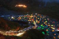 長野県 涸沢キャンプ場夜景