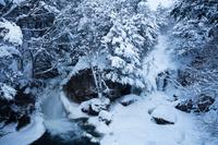 栃木県 雪の竜頭の滝
