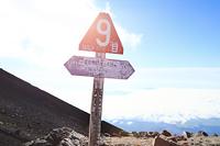 富士山九合目の登山標識