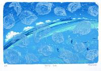 クラゲ(リトグラフ)