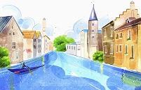 運河と家並み