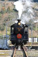 島根県 山口線 ターンテーブルに乗るC56