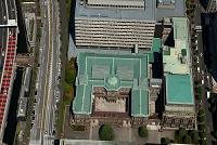 東京都 日本銀行本店(上空から見ると円の字に見える建物)