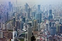 中国 上海 旧市街ビル