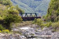 兵庫県 川西市 能勢電鉄 鉄橋 猪名川