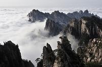 中国 安徽省 黄山と雲海