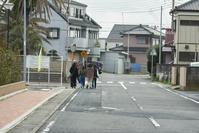 茨城県神栖市 津波避難訓練 訓練に参加した住民が帰っていく場面