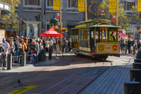 サンフランシスコ ケーブルカーの人力ターンテーブル