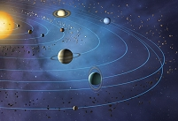 イラスト CG 太陽系