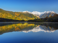 長野県 上高地 大正池の紅葉