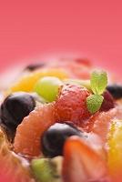 フルーツタルトケーキのアップ