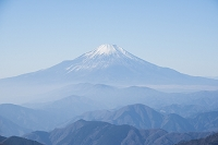 神奈川県 丹沢 塔ノ岳山頂から見る富士山