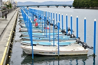 静岡県 浜名湖 漁船係留