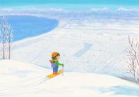 山の上のスキー場から
