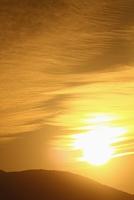 奈良県 秋の雲 染まる空