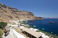 ギリシャ サントリーニ島のティラシア島 ロバ