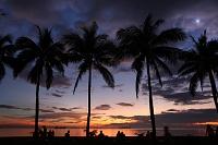 フィリピン マニラ湾と夕日