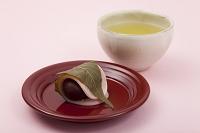桜餅と日本茶