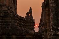 カンボジア 夕日のアンコール遺跡