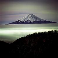 山梨県 富士山 三ツ峠山から